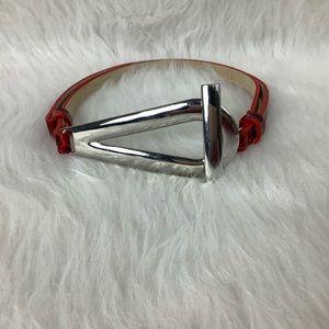 WHBM Red & Silver Adjustable Belt